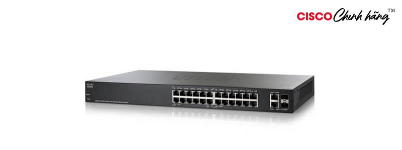 SF220-24-K9-EU SF220-24 24-Port 10/100 Smart Plus Switch REMANUFACTURED