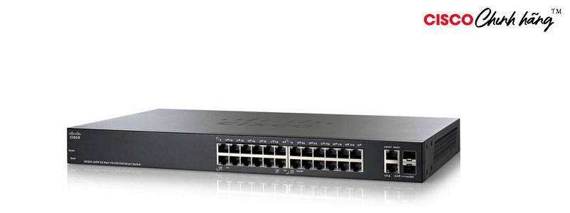SF250-24P-K9-EU Cisco SF250-24P 24-Port 10/100 PoE Smart Switch