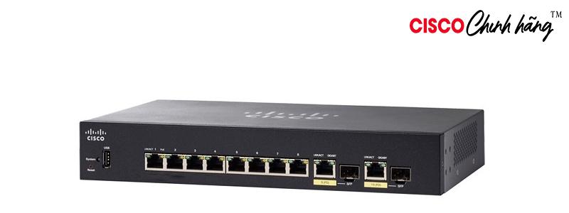 SG350-10P-K9-EU Cisco SG350-10P 10-Port Gigabit PoE Managed Switch