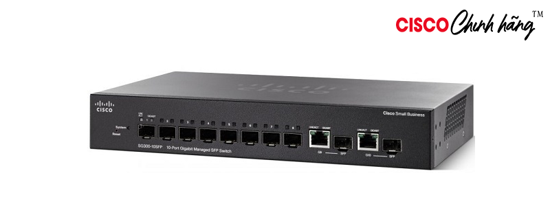 SG350-10SFP-K9-EU Cisco SG350-10 10-Port Gigabit Managed Switch