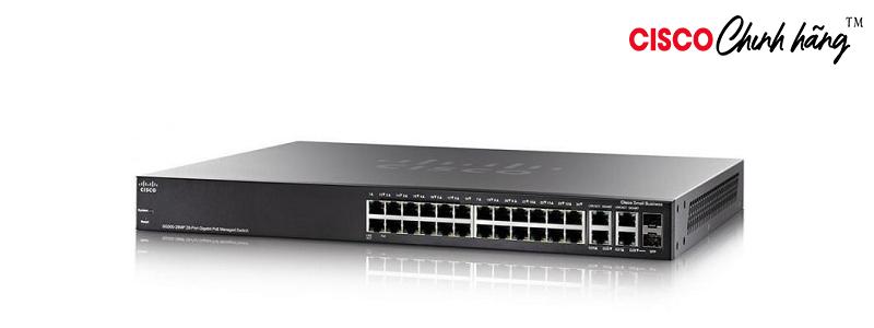SG350-28P-K9-EU Cisco SG350-28P 28-Port Gigabit PoE Managed Switch
