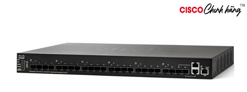 SG350XG-24F-K9-EU Cisco SG350XG-24F 24-Port 10G SFP+ Stackable Managed Switch