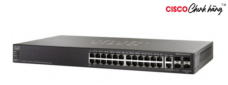 SG500-28-K9-G5 SG500-28 28port GB Stackable Managed Switch REMANUFACTURED