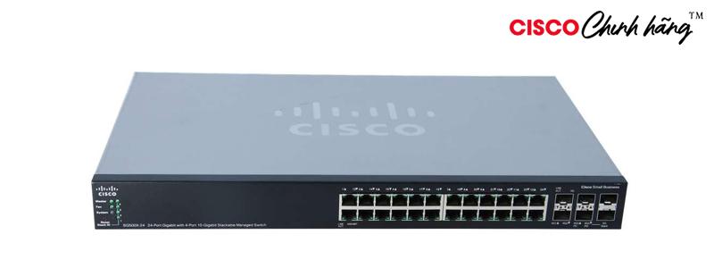 SG500X-24MPP-K9-G5 24MPP 24-port Gig + 4 10-Gig Max PoE+ Switch REMANUFACTURED