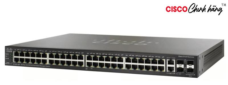 SF500-48P-K9-G5 48pt10/100POE StackManagedSwitch w/GigUplinks REMANUFACTURED