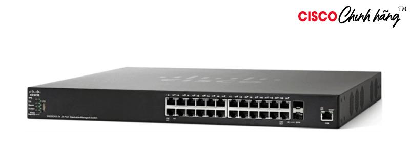 SX350X-24-K9-EU Cisco SG350X-24 24-Port Gigabit Stackable Managed Switch