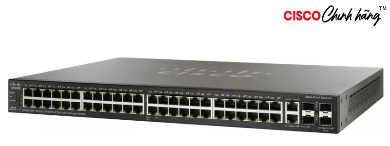 SF500-48-K9-G5 48pt 10/100 StackablManagdSwitch w Gb Uplinks REMANUFACTURED
