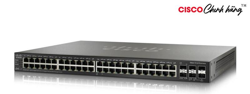SG550X-48P-K9-EU Cisco SG550X-48 48-Port Gigabit Stackable Managed Switch