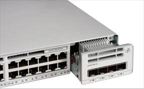 Hình ảnh Cisco Catalyst 9200 kết nối với network module
