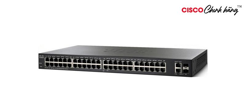SG220-50P-K9-EU SG220-50P 50Port GigabitPoE Smart Plus Switch REMANUFACTURED