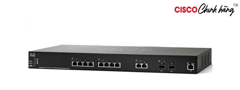 SG350XG-2F10-K9-EU Cisco SG350XG-2F10 12-Port 10GBase-T Stackable Managed Switch