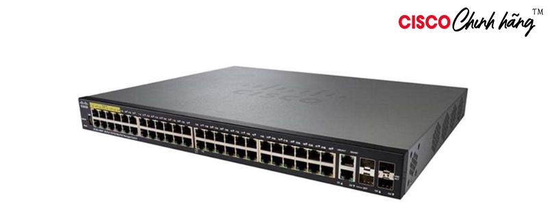 SG350X-48P-K9-EU Cisco SG350X-48P 48-Port Gigabit PoE Stackable Managed Switch