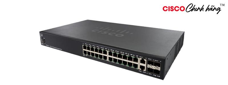 SG550X-24P-K9-EU Cisco SG550X-24P 24-Port Gigabit PoE Stackable Managed Switch