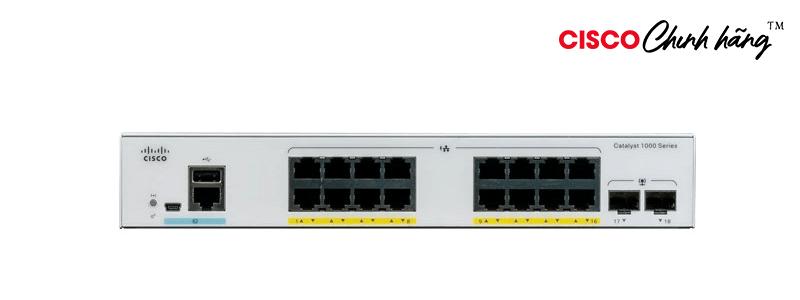 C1000-16P-2G-L Catalyst 1000 16port GE, POE, 2x1G SFP