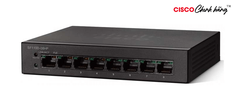 SF110D-08HP CSCO SUP ESS 8X5XNBD SF110D-08HP 8Pt 10/100 PoE Desktop swi
