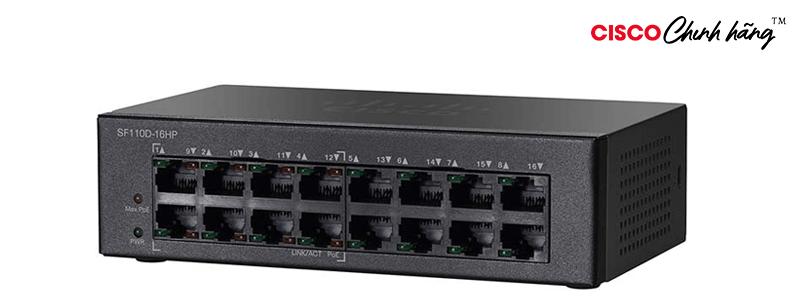 SF110D-16HP CSCO SUP ESS 8X5XNBD SF110D-16HP 16Pt 10/100 PoE Dktop swi