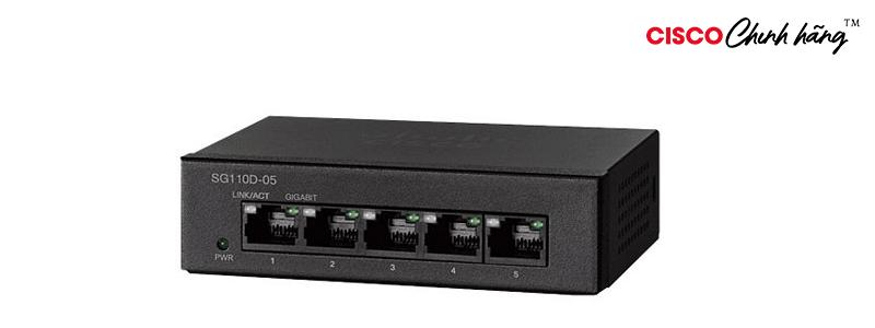 SG110D-05 Bộ chuyển mạch để bàn 5 cổng Gigabit Cisco SG100D-05