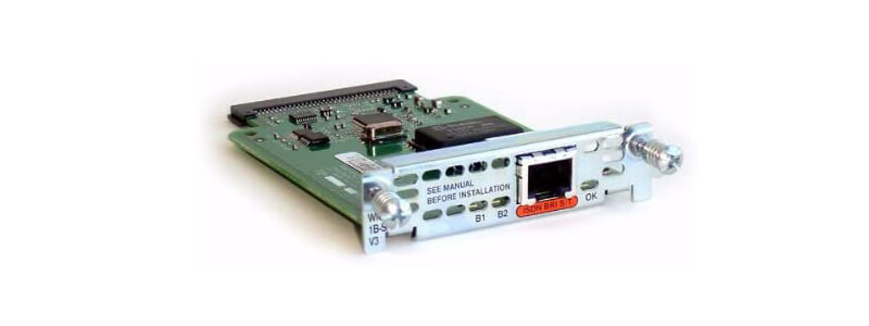 WIC-1B-S/T-V3 1-Port ISDN WAN Interface Card (dial and leased line)