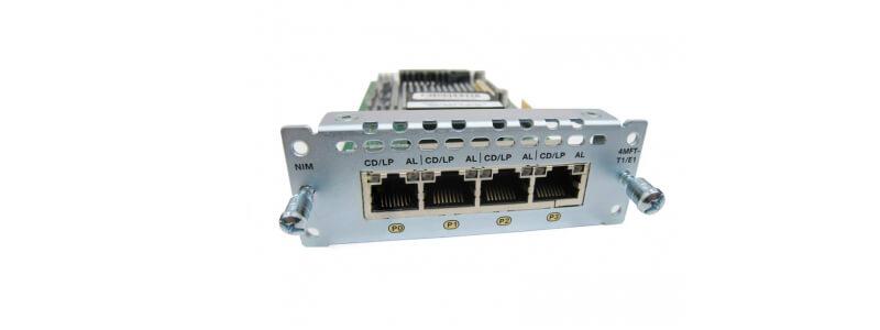 NIM-4MFT-T1/E1= 4 port Multiflex Trunk Voice/Clear-channel Data T1/E1 Module