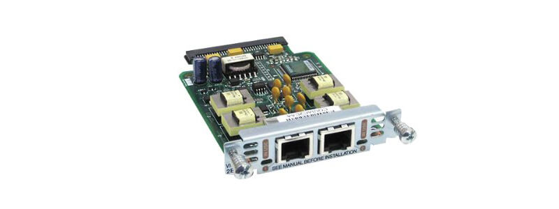 VIC2-2E/M Two-port Voice Interface Card - E and M
