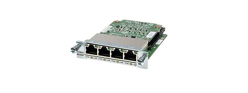 EHWIC-4ESG-P Four port 10/100/1000 Ethernet switch interface card w/PoE