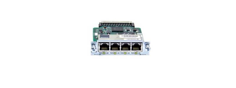 HWIC-4ESW Four port 10/100 Ethernet switch interface card