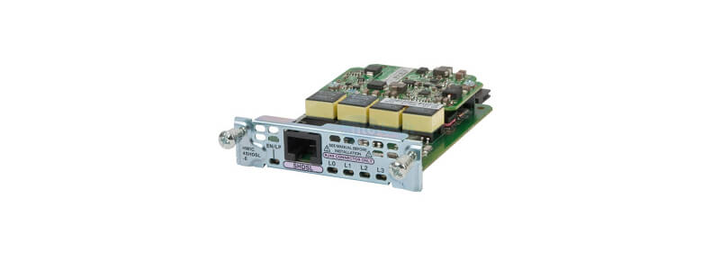 EHWIC-4SHDSL 4-pair G.shdsl HWIC with IMA support Cisco Router High-Speed WAN Interface card
