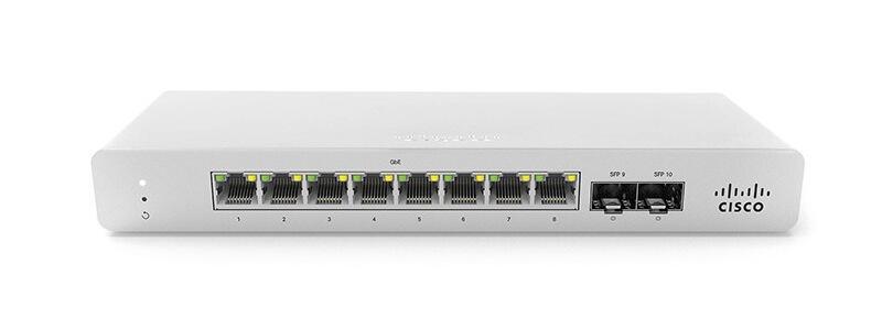 MS120-8-HW Meraki MS120-8 1G L2 Cloud Managed 8x GigE Switch