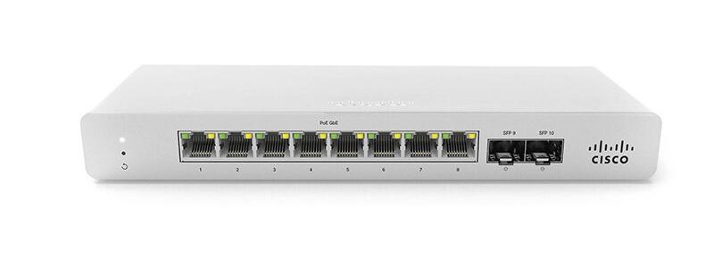 MS120-8FP-HW Meraki MS120-8FP 1G L2 Cloud Managed 8x GigE 124W PoE Switch