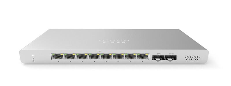 MS120-8LP-HW Meraki MS120-8LP 1G L2 Cloud Managed 8x GigE 67W PoE Switch