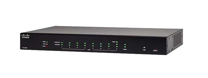 R260-K9-KR Cisco RV260 9-Ports 1-Slots Gigabit VPN Router