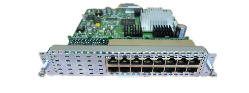 SM-ES2-16-P Enhanced EtherSwitch, L2, SM, 15 FE, 1 GE, POE