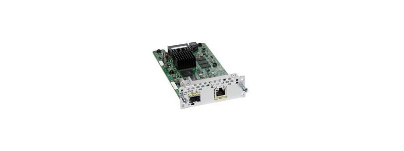 NIM-1GE-CU-SFP 1-port GE WAN NIM, dual-mode RJ45 & SFP