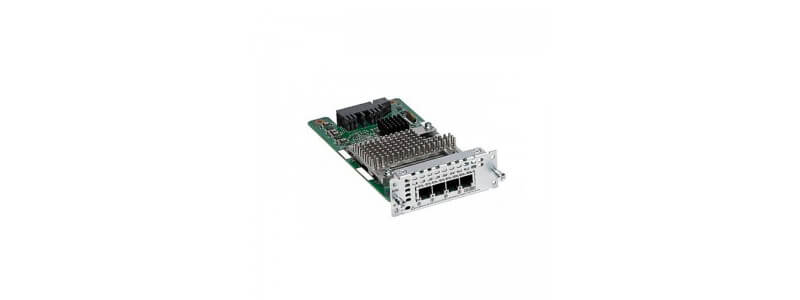 NIM-4FXS 4-Port Network Interface Module - FXS, FXS-E and DID