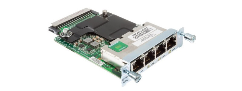 EHWIC-4ESG Four port 10/100/1000 Ethernet switch interface card