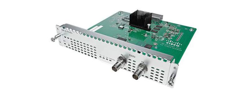 SM-X-1T3/E3= One port T3/E3 Service module