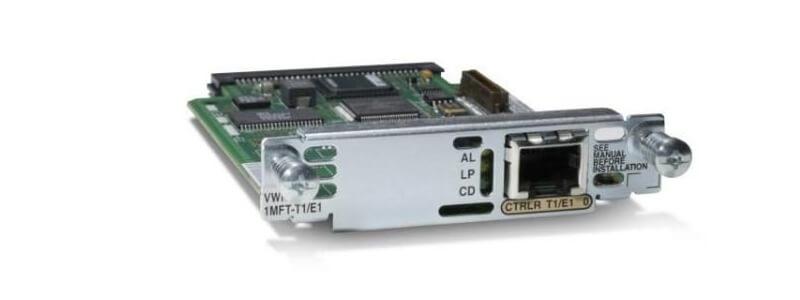 VWIC-1MFT-T1 1 cổng Multiflex Trunk Voice / WAN Int. Thẻ - T1