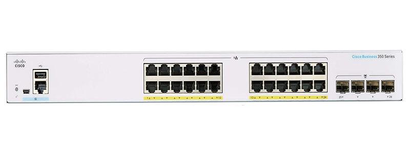 CBS350-48P-4G 48 10/100/1000 PoE+ ports with 370W power